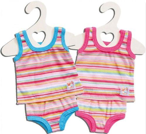 Puppen-Schnittmuster - Badeanzug mit Rüsche pink