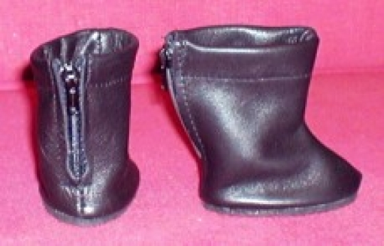 leather boots black (7 cm feet)