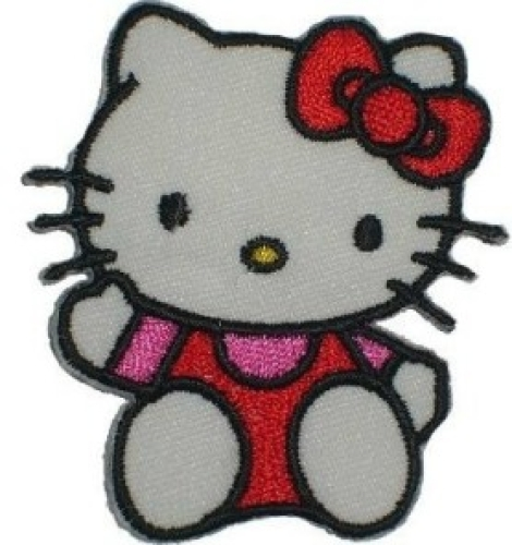 "Applikation ""Hello Kitty mit Schleife"""