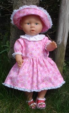 Puppen-Schnittmuster - Gratis-Schnitt Sommerkleid für Puppen