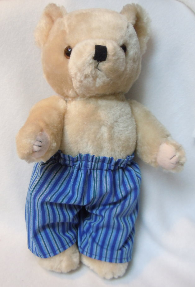 Puppen-Schnittmuster - Teddy bear with trousers in blue