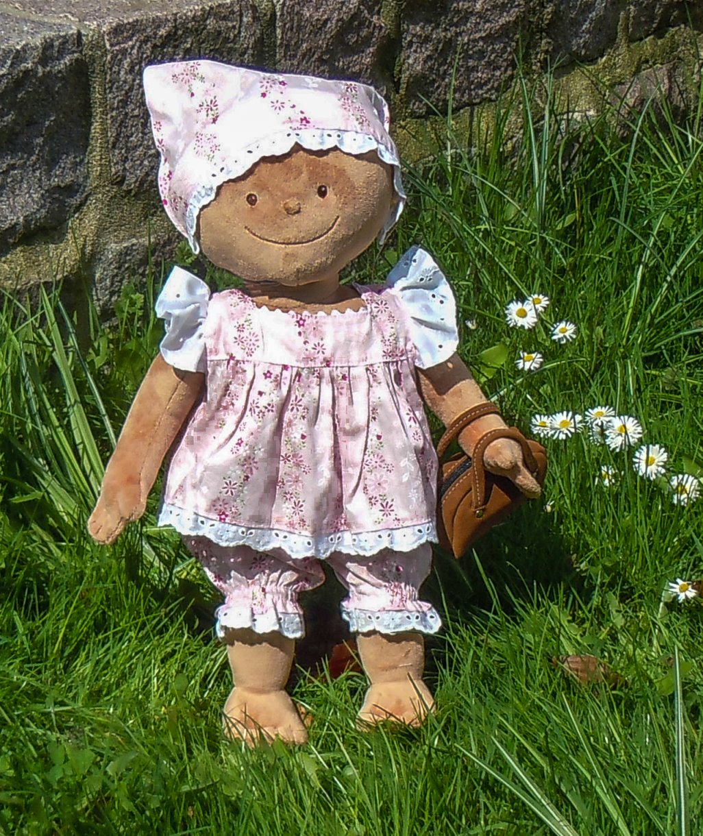 Puppen-Schnittmuster - Krümel-Schnitt: Hängerchen mit Pumphose und ...